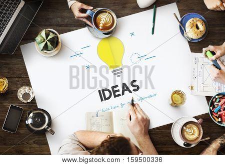 Light Bulb Ideas Concept