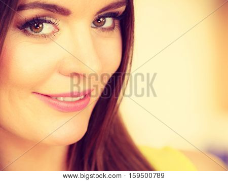 Attractive Woman Face Portrait