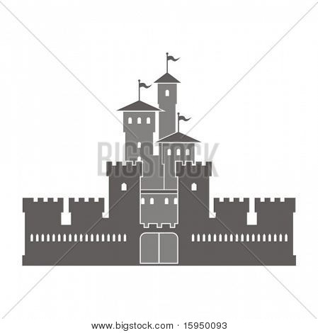 Vector illustration of a fortress.