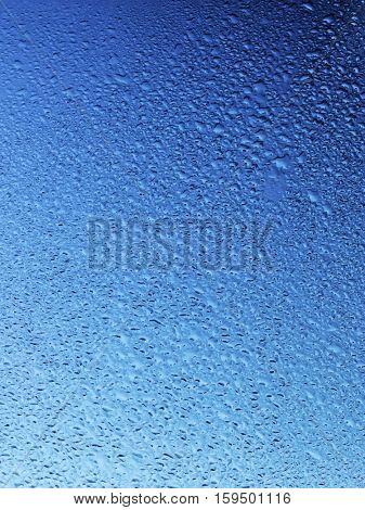 Wet blue surface