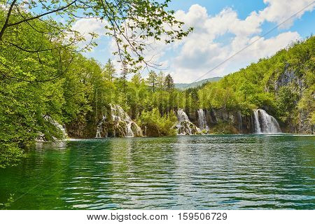 Beautiful Cascades In Plitvice National Park