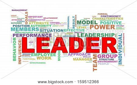 Wordcloud Word Tags Of Leader