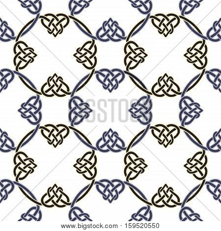 Seamless pattern with Celtic knots. Vector template ornament.