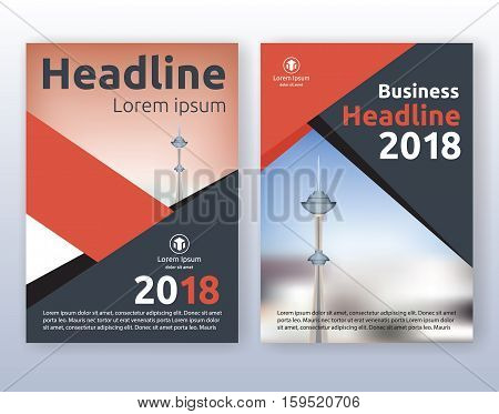 Multipurpose corporate business flyer layout design. Suitable for flyer brochure book cover and annual report. Red and black color scheme in A4 size layout template background with bleeds.