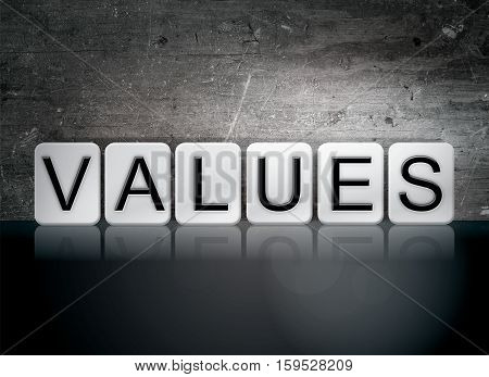 Values Tiled Letters Concept And Theme