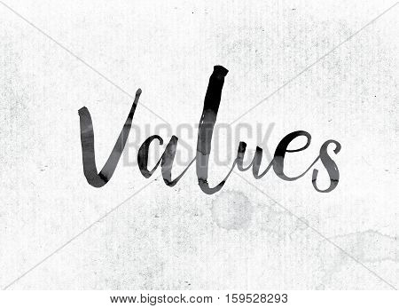 Values Concept Painted In Ink