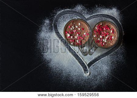 Delicious Vanilla And Chocolate Pannacotta