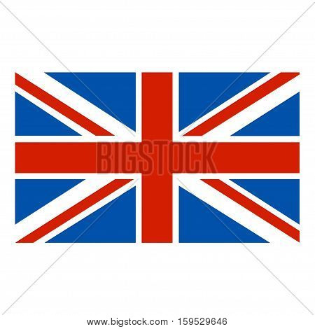 Flag of Great Britain on a white background