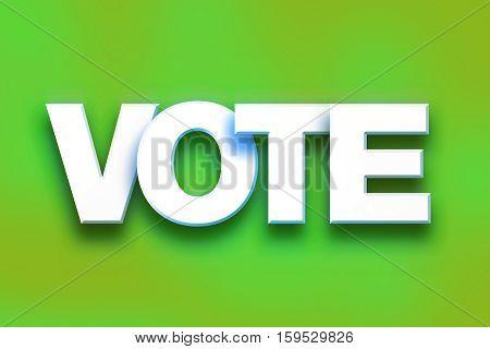 Vote Concept Colorful Word Art