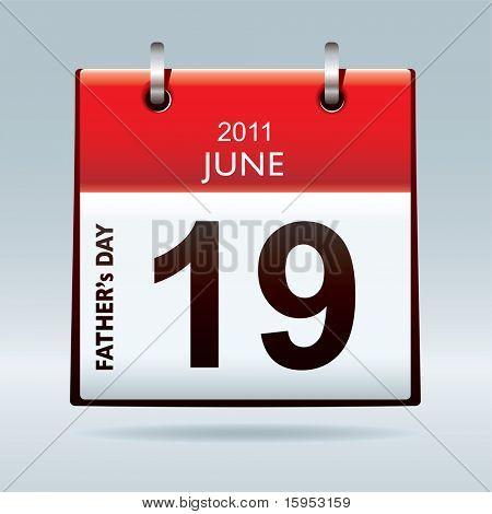 weiter Tag rot und weiß/Urlaub Kalendersymbol