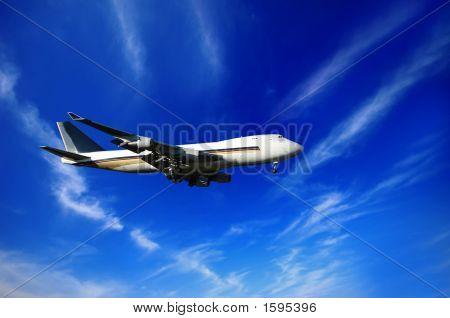 Jumbojet And Blue Sky