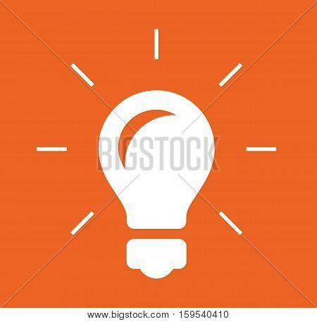 Bulb logo icon design orange background vector stock