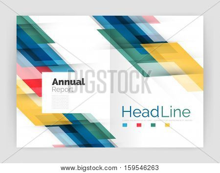 Modern line design, motion concept. Business annual report brochure template.