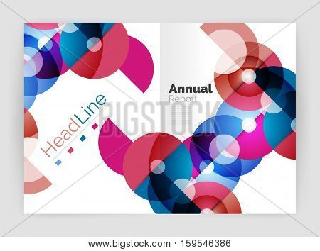 Circle abstract background, business annual report or flyer layout. illustration