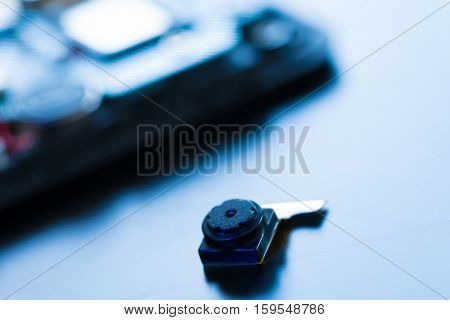 Cell phone camera module with other parts of device, service and repair concept