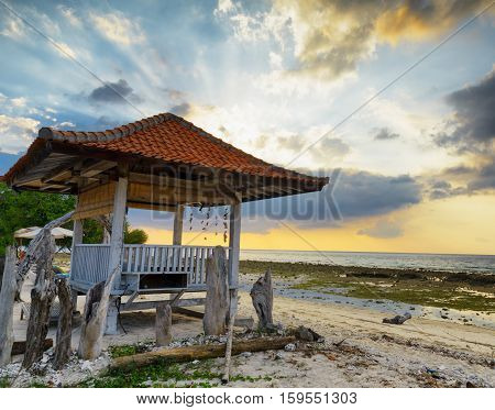 Traditional Pavilion On Sunset Beach