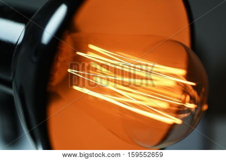 Abstract Idea Of Electric Lamp 35W.