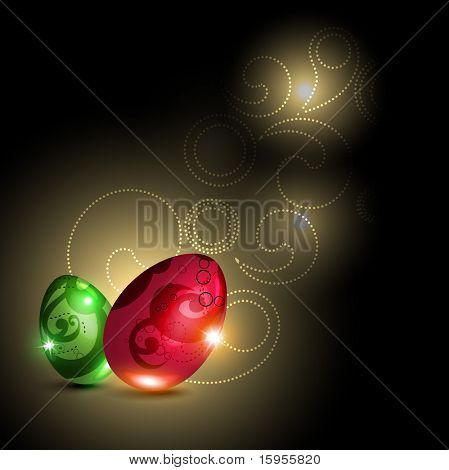 beautiful shiny glowing egg design