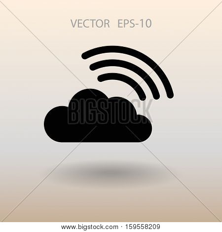 Flat icon of cloud. vector illustration