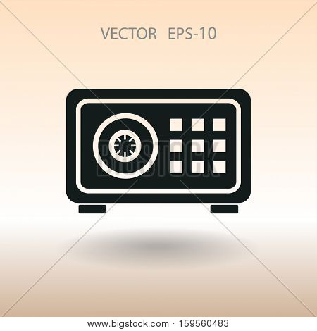 Flat icon of safe. vector illustration