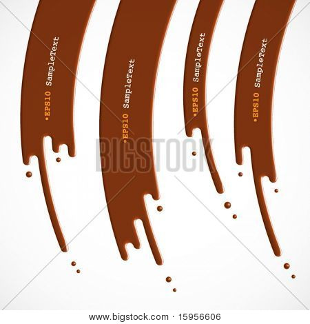 Vector Chocolate Dripping, Flasher Design