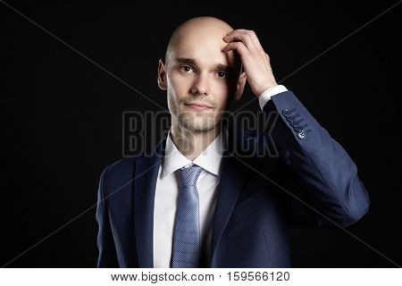 Man Scratching His Head