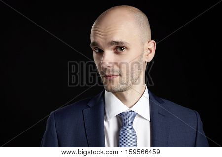 Bald Man On Black