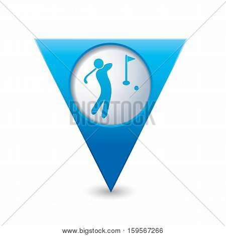 Map pointer with golf icon. Vector illustration