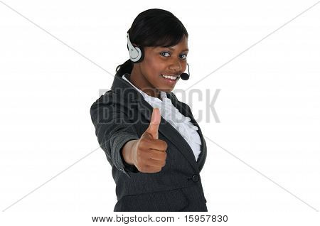 Attractive Business Woman With Headset 06