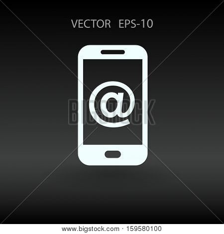 Mobile mail. vector illustration