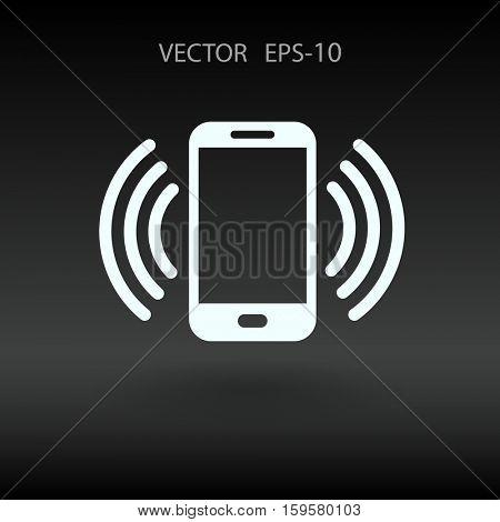 calling icon. vector illustration