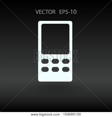 Flat  icon of cellphone. vector illustration