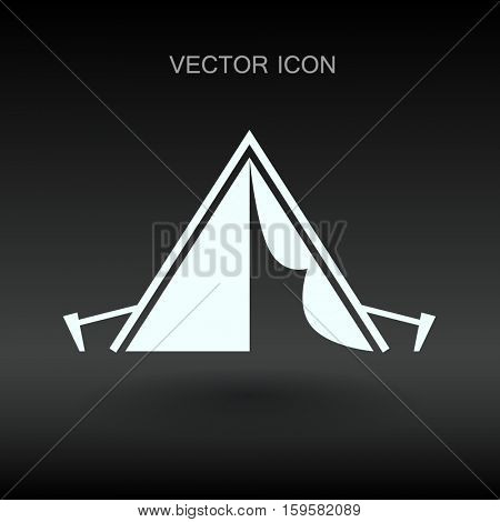 Tourist tent vector illustration