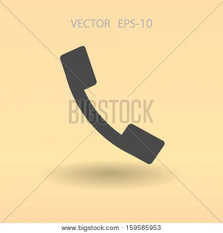 Flat icon of a phone. vector illustration