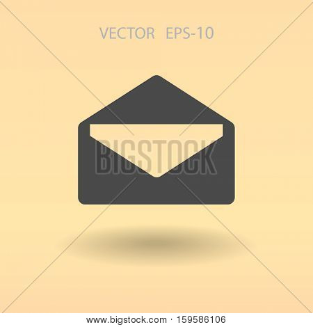 Flat icon of letter. vector illustration