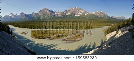 Bow River in the Canadian Rocky Mountains