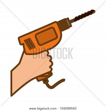 power drill tool icon image vector illustration design