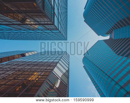 Skyscraper Buildings and Sky View in Big City