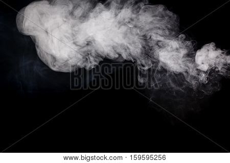 Abstract smoke Weipa. Personal vaporisers fragrant steam. The concept of alternative non-nicotine smoking. Smoke on a black background. E-cigarette. Evaporator. Taking Close-up. Veyping.