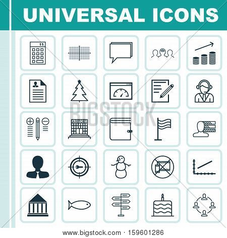 Set Of 25 Universal Editable Icons. Can Be Used For Web, Mobile And App Design. Includes Elements Such As Investment, Line Graph, Coins Growth And More.