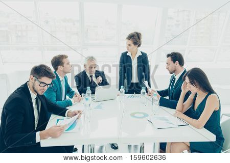 Business People Have Meeting And Briefing In Modern Office
