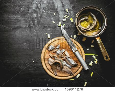 Salted Herring With Spices And Herbs