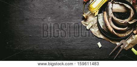 Herring Fillet On The Plate