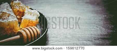 Sweet Flavored Honey In The Comb