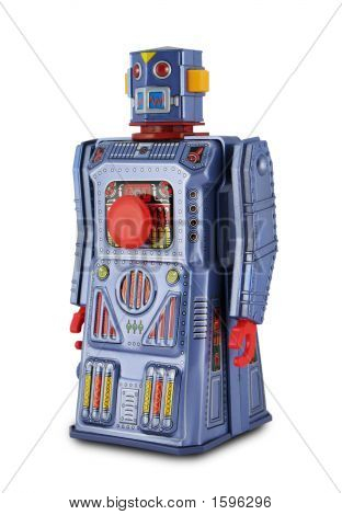 Purple Tin Toy Robot