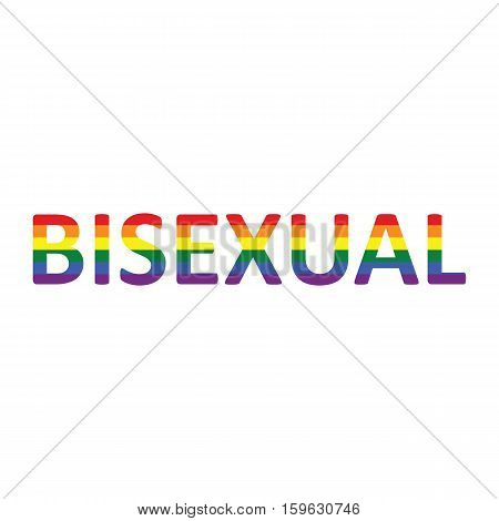 Bisexual: Rainbow Color Calligraphy