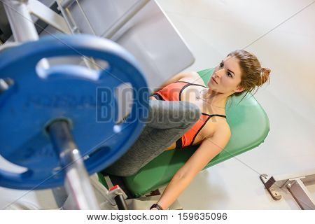 Fitness Girl Shakes Her Legs