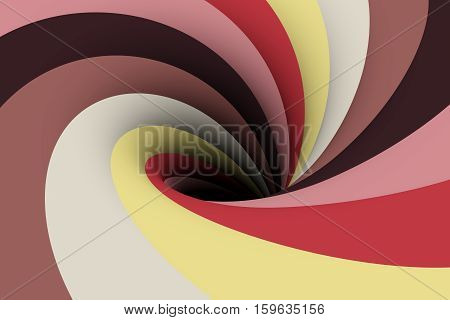 black hole in the purple color 3D illustration