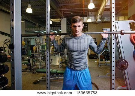 Fitness With Barbell Working With A Trainer
