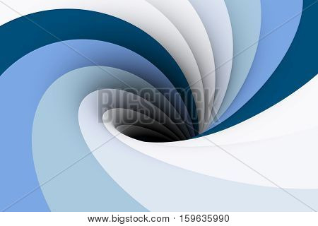 black hole Aqua background vortex 3D illustration